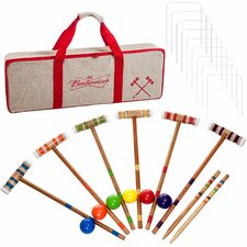 24 Piece Budweiser 6 Player Croquet Complete Game Set
