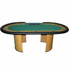 "84"" Professional Texas Holdem Poker Table with Dealer Position"