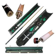 Laser Designer Pool Stick in Emerald Green