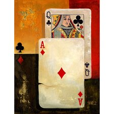 "Poker Queen, Canvas Art - 48"" x 36"""