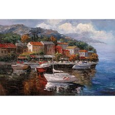 At Sea by Joval Painting Print on Canvas