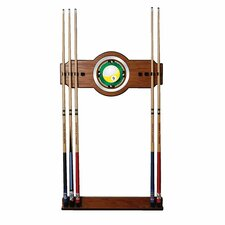 <strong>Trademark Global</strong> Nine Ball 2-Piece Wood and Mirror Wall Cue Rack