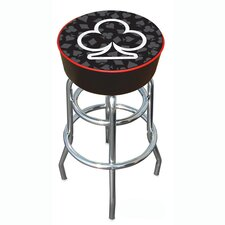 "<strong>Trademark Global</strong> Four Aces 30"" Club Logo Padded Bar Stool with Cushion"