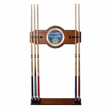 U.S. Coast Guard 2-Piece Wood and Mirror Wall Cue Rack