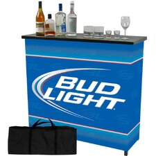 <strong>Trademark Global</strong> Bud Light Shelf Portable Bar Table with Carrying Case