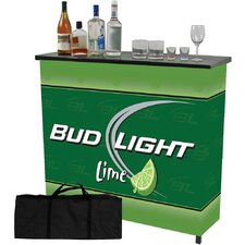 <strong>Trademark Global</strong> Bud Light Lime 2 Shelf Portable Bar Table with Case