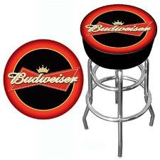 "Budweiser 30"" Bar Stool with Cushion"