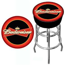 "<strong>Trademark Global</strong> Budweiser 30"" Bowtie Bar Stool with Cushion"