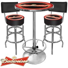 <strong>Trademark Global</strong> Budweiser 3 Piece Pub Table Set