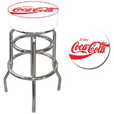 Enjoy Coca Cola Pub Stool in White