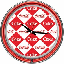 "Coca Cola 14.5"" Checker Wall Clock"