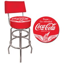 "Coca Cola 30"" Vinyl Pub Bar Stool"