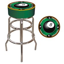 "<strong>Trademark Global</strong> 30"" Rack'em 8-Ball Bar Stool with Cushion"