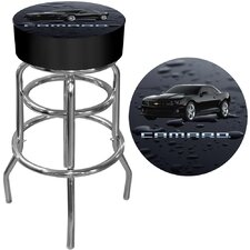 Camaro Padded Bar Stool in Black