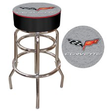 Corvette C6 Padded Bar Stool in Silver