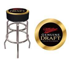 "<strong>Trademark Global</strong> 30"" Miller Genuine Draft Bar Stool with Cushion"