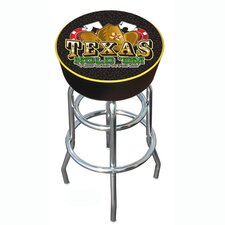 "<strong>Trademark Global</strong> 30"" Texas Hold 'em Logo Padded Bar Swivel Stool with Cushion"