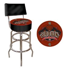 NCAA Padded Bar Stool with Back