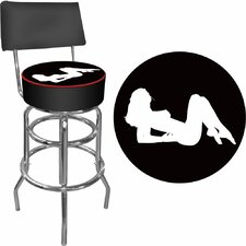 <strong>Trademark Global</strong> Shadow Babes - A Series - High Grade Swivel Bar Stool with Cushion