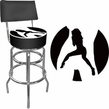 Shadow Babes Swivel Bar Stool with Cushion