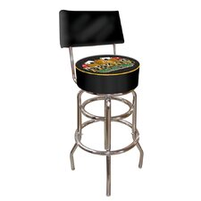 Texas Hold'em Padded Bar Stool with Back