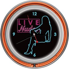 Shadow Babes - D Series - Clock with Two Neon Rings in Orange