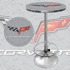 <strong>Trademark Global</strong> Corvette C6 Pub Table in Silver