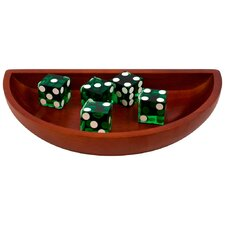 <strong>Trademark Global</strong> Craps Wooden Dice Boat in Green