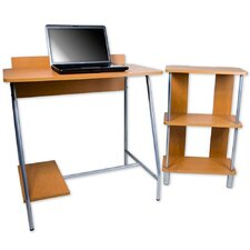 Orispace Office in a Box Desk and Bookcase Combo