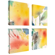 Yellow Print by Golden Sheila 4 Piece Painting Print Set