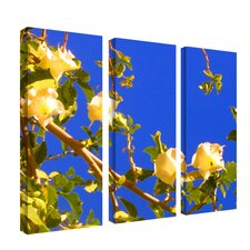 "Flowering Tree I by Amy Vangsgard, 3 Panel Wall Art  - 32"" x 36"""