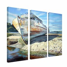 Inverness Boat by Colleen Proppe 3 Piece Painting Print Set