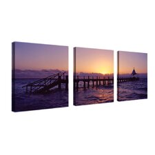 "Seascape by Preston, Canvas Art - 14"" x 14"" (Set of 3)"