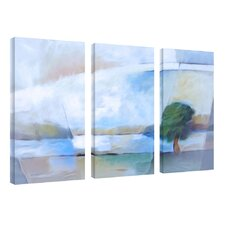 "Landscape in Light, Canvas Art by A.Kadmos - 24"" x 16"" (Set of 3)"