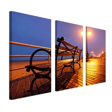 "Boardwalk by Cat Eyes, Canvas Art - 24"" x 12"" (Set of 3)"