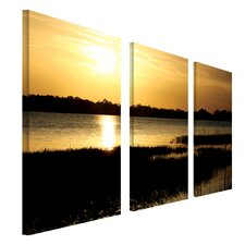 End of the Day by Patty Tuggle 3 Piece Photographic Print on Canvas  Set