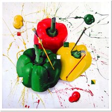 "Peppers of Color by Roderick Stevens, Canvas Art - 36"" x 36"""