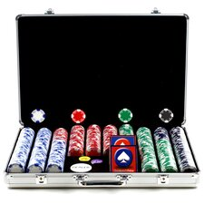 Holdem Poker Chip Set with Executive Aluminum Case