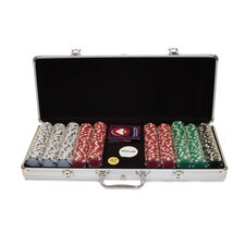 500 Dice-Striped Chips in Aluminum Case