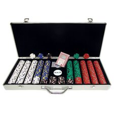 650 Pro Clay Casino Chips with Aluminum Case