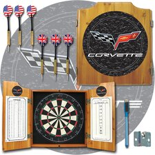 <strong>Trademark Global</strong> Corvette Model Dart Cabinet in Medium Wood
