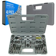 40 Piece Premium Tap and Die Set (Metric and SAE)