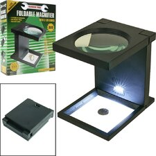 <strong>Trademark Global</strong> Foldable Magnifier with 3 LED Lights