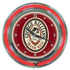 "<strong>Trademark Global</strong> George Killian 14"" Neon Wall Clock"
