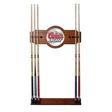 <strong>Trademark Global</strong> Coors Mirror Wall Cue Rack in Light Wood