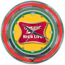 "Miller High Lite 14"" Neon Wall Clock"