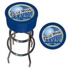 "<strong>Trademark Global</strong> 30"" Blue Moon Bar Stool with Cushion"