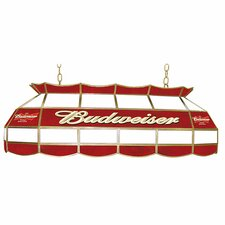 "Budweiser 40"" Stained Glass Pool Table Light"