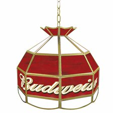 "Budweiser 16"" Tiffany Light Fixture"