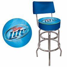 Miller Lite Bar Stool with Cushion